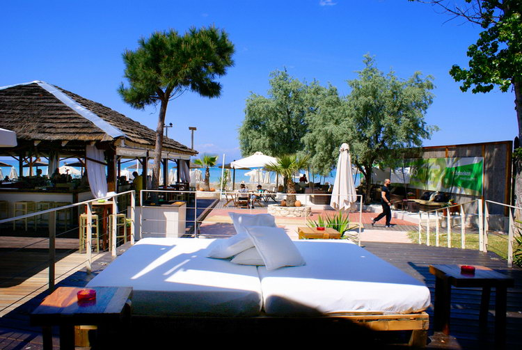Beach bar Anemos Camping Blue Dream